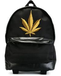 Palm Angels - Embroidered Leaf Backpack - Lyst