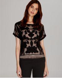 Karen Millen Top Lace Mesh Collection - Lyst