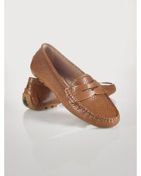 Lauren by Ralph Lauren Snake-embossed Camila Loafer - Lyst
