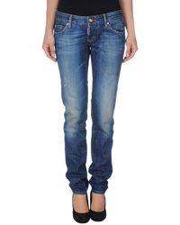 DSquared2 Blue Denim Pants - Lyst