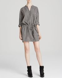 DKNY Check Shirt Dress - Lyst