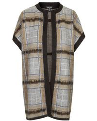 Topshop Brushed Checked Cardigan - Lyst