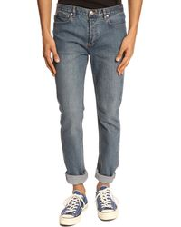 A.P.C. Petit New Standard Blue Denim Jeans - Lyst