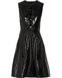 Erdem Elaine Croceffect Patentleather Mini Dress - Lyst