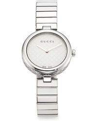 Gucci | Diamantissima Stainless Steel Bracelet Watch | Lyst