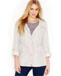 Jessica Simpson Tab-Sleeve Hooded Anorak Jacket - Lyst