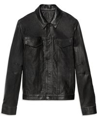 Helmut Lang Perforated Leather Jacket - Lyst