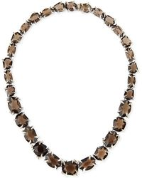 Alexis Bittar Fine - Smoky Quartz  Diamond Necklace - Lyst