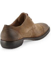 Andrew Marc Suede Captoe Derby Shoe - Lyst