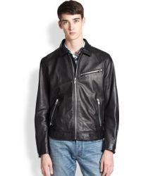 Marc By Marc Jacobs Lambskin Leather Jacket - Lyst