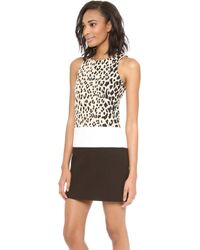 4.collective Sleeveless Fitted Leopard Dress - Sand Multi - Lyst