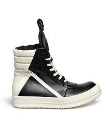 Rick Owens 'Geobasket' High Top Leather Sneakers - Lyst