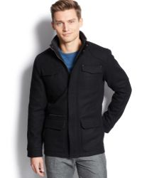 Calvin Klein Basic Wool-blend Four-pocket Jacket - Lyst