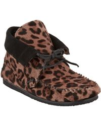 Isabel Marant Flavie Moccasin Booties brown - Lyst