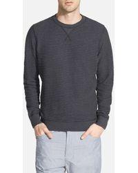 Diesel 'Lisse' Ribbed Crewneck Sweatshirt gray - Lyst