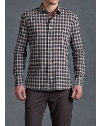 John Varvatos Point Collar Shirt with Peace Sign - Lyst