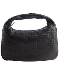 Bottega Veneta Black Intrecciato Leather Hobo Bag - Lyst