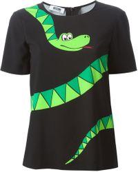 Moschino Cheap & Chic Snake Print T-Shirt - Lyst