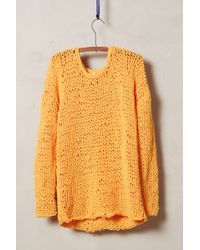 Moth Yellow Openstitch Pullover - Lyst