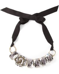 Lanvin Ribbon Necklace - Lyst