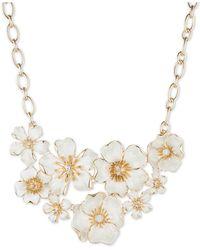 Anne Klein - Floral Statement Necklace - Lyst