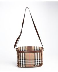 Burberry Canvas and Leather Vintage House Check Salford Crossbody - Lyst