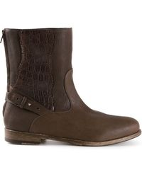 Henry Beguelin - Crocodile Trim Boots - Lyst