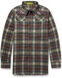 Raf Simons Check Cotton Shirt - Lyst