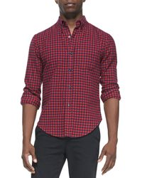 Band Of Outsiders Check Button-down Shirt - Lyst