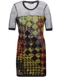 Versus  Net Fitted Dress - Lyst