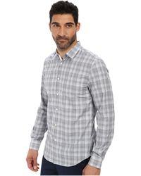John Varvatos Slim Fit Turnback Placket With Contrast Interior Shirt - Lyst