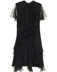 Alexander McQueen Ruffled Silk-Chiffon Dress - Lyst