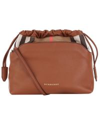 Burberry - The Little Crush In Leather And House Check - Lyst