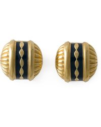 Burberry Gold Ball Earrings - Lyst