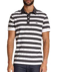 Ferragamo Striped Polo - Lyst