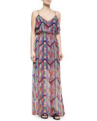 Ella Moss Chevron-Print Maxi Dress - Lyst