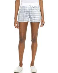Three Dots Montauk Stripe Shorts  - Lyst