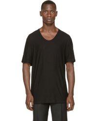 T By Alexander Wang - Black Pilled Silk T_shirt - Lyst