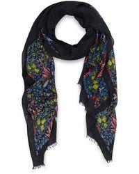 Jonathan Saunders -  Floral Print Modal Blend Scarf - Lyst