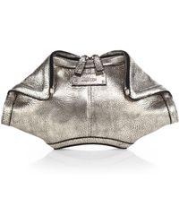 Alexander McQueen Metallic Leather Mini De Manta Clutch - Lyst