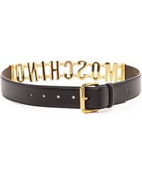Moschino Belt - Black - Lyst