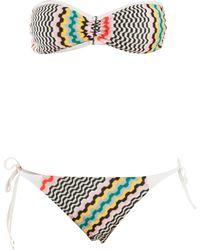 Missoni Bandeau Bikini - Lyst