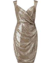 Ariella - Florence Sequin Pencil Dress - Lyst