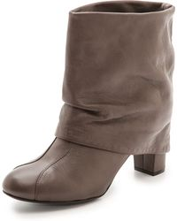 See By Chloé Cuffed Mid Heel Booties - Nera - Lyst
