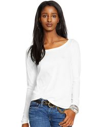 Polo Ralph Lauren Sheer Long-Sleeve Slouchy Tee - Lyst