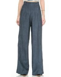 Sass & Bide The Force Wideleg Trousers - Indigo - Lyst