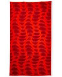 Natori Ribbed Printed Beach Towel - Lyst