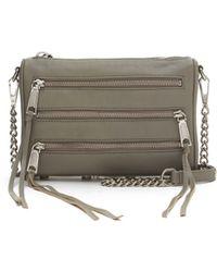 Rebecca Minkoff Gray Mini 5-zip - Lyst