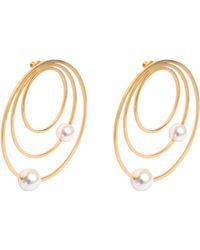 Maria Francesca Pepe - Orbital Pearl Earrings - Lyst