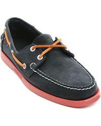 Sebago Docksides Blue Nubuck Boat Shoes - Lyst